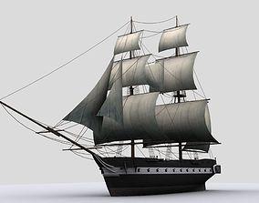 Sailboat brig 3D model