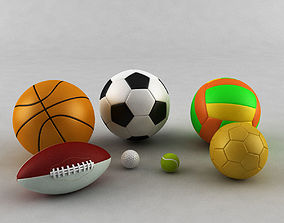 soccer Sports Ball Collection 3D model