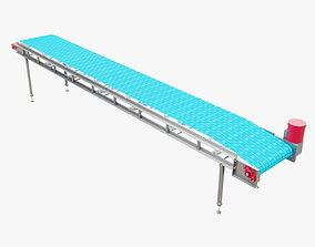 Plastic Modular Belt Conveyor 3D asset