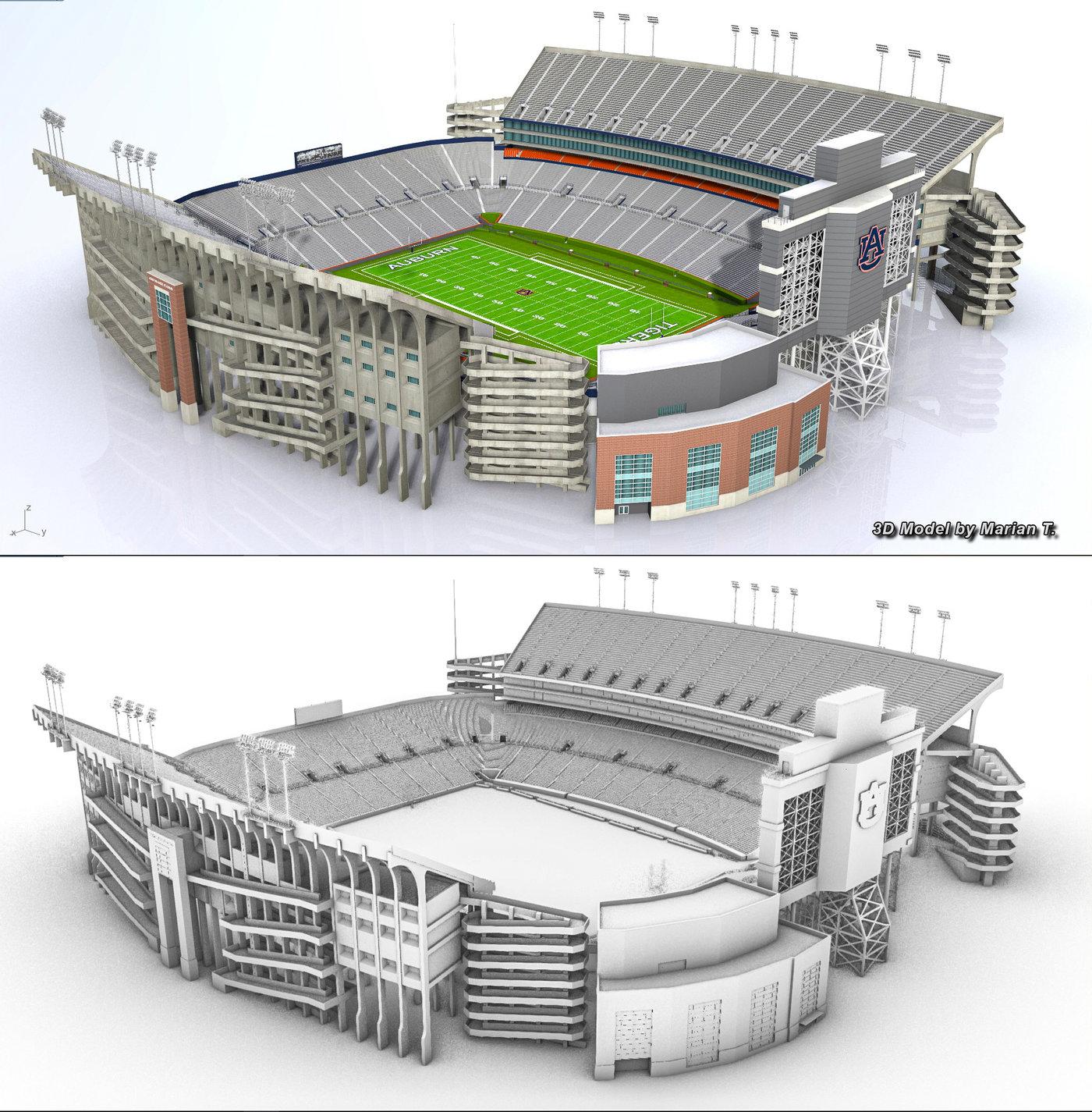Jordan-Hare stadium 3D