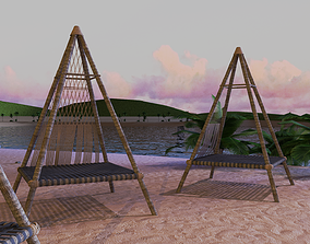 Beach Teepee - Resting Zone 3D model