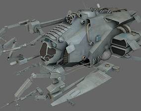 3D model low-poly Repair Support Ship MS