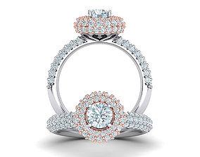 Diamond Engagement ring Halo design printable