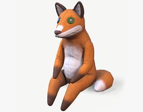 Crazy Fox Toy 3D asset
