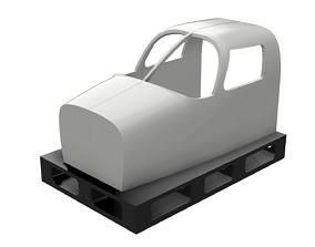 3D print model Piper Seneca Flight Simulator Cockpit shell