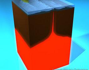 Ocean crust section 3D model