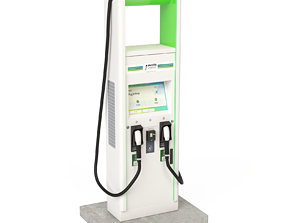 3D model Electric Vehicle Charging Station Electrify 2