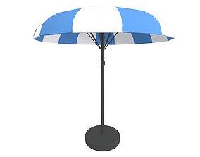 Garden Umbrella v1 001 3D asset