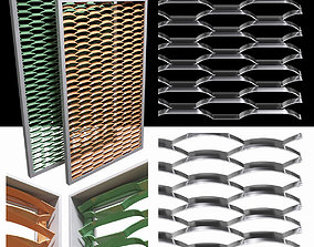 Expanded metal stainless - radial and arc 3D fence