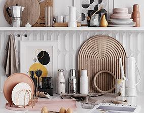 3D model VR / AR ready Kitchen decor 2