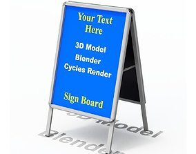 Street Sign - Sandwich Form 3D model