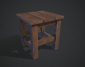restaurant 3D asset low-poly Wooden Chair