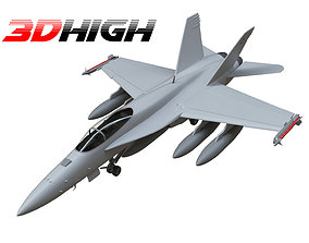 3D F18 airforce