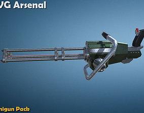 Minigun pack 3D asset