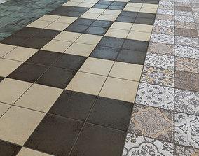 3D Floor tile Barber shop