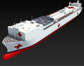Hospital Ship USNS Comfort 3D
