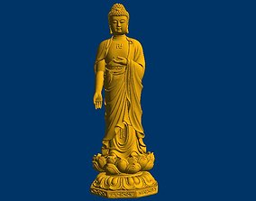Buddha 3D STL model for CNC Router mill relief sculpture