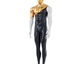 3D model Faceless mannequin with gold top 135