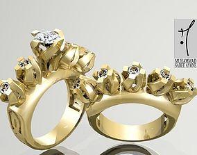 rhino Gold Ring 3D print model