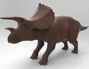 3D printable model triceratops vray