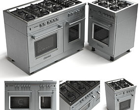 Gas range cooker 3D