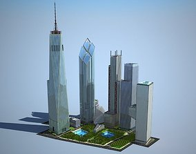 New World Trade Center Complex 3D model