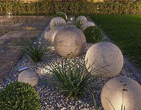 3D model curbs Flowerbed