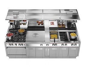 appliance 3D model Modular Kitchen Angelo Po ICON9000