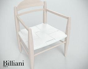 3D model Billiani Vincent VG lounge chair white