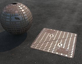 3D model realtime Manhole Covers