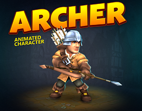 Archer animated character 3D model