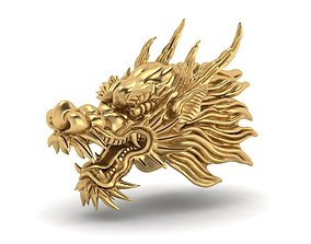 3D Printable oriental Chinese Dragon head 3D print model