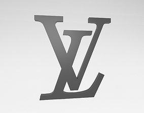 Louis Vuitton Logo v2 003 3D asset