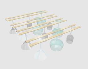 3D Wine Glass Rack