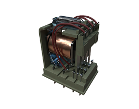 Electromagnetic Relay 3D model game-ready