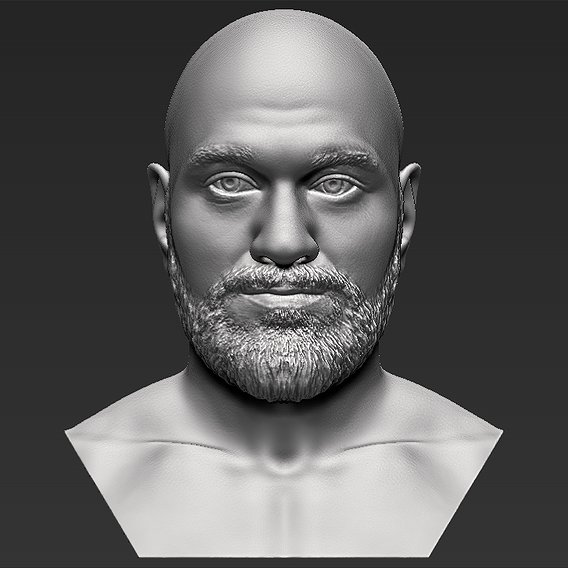 Tyson Fury bust for 3D printing