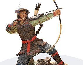 Ronin samurai 3d scan statue