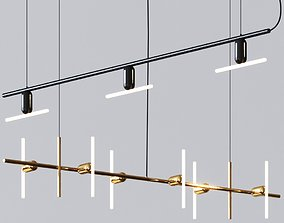 Linear and Aerial Chandelier by Beem Lamps 3D model