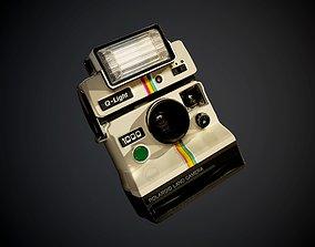 3D Polaroid Camera Atlas Decal Seamless PBR Texture