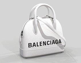 Balenciaga Ville Top Handle XXS Bag White 3D model 1