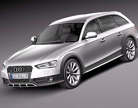 Audi A4 Allroad Quattro 2013 3D Model sw
