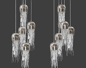 Currey and Company Medusa Multi Pendant 3D model