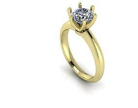 Tiffany Style 1ct Diamond 3D printable model