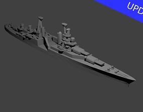 US Portland Class Cruiser Warship 3D print model