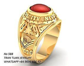 3D printable model 588 USA Ring