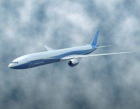 3D model Boeing 777-300 ER airliner