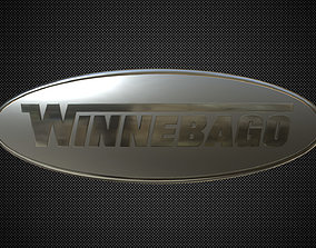 Winnebago logo 3D model badge