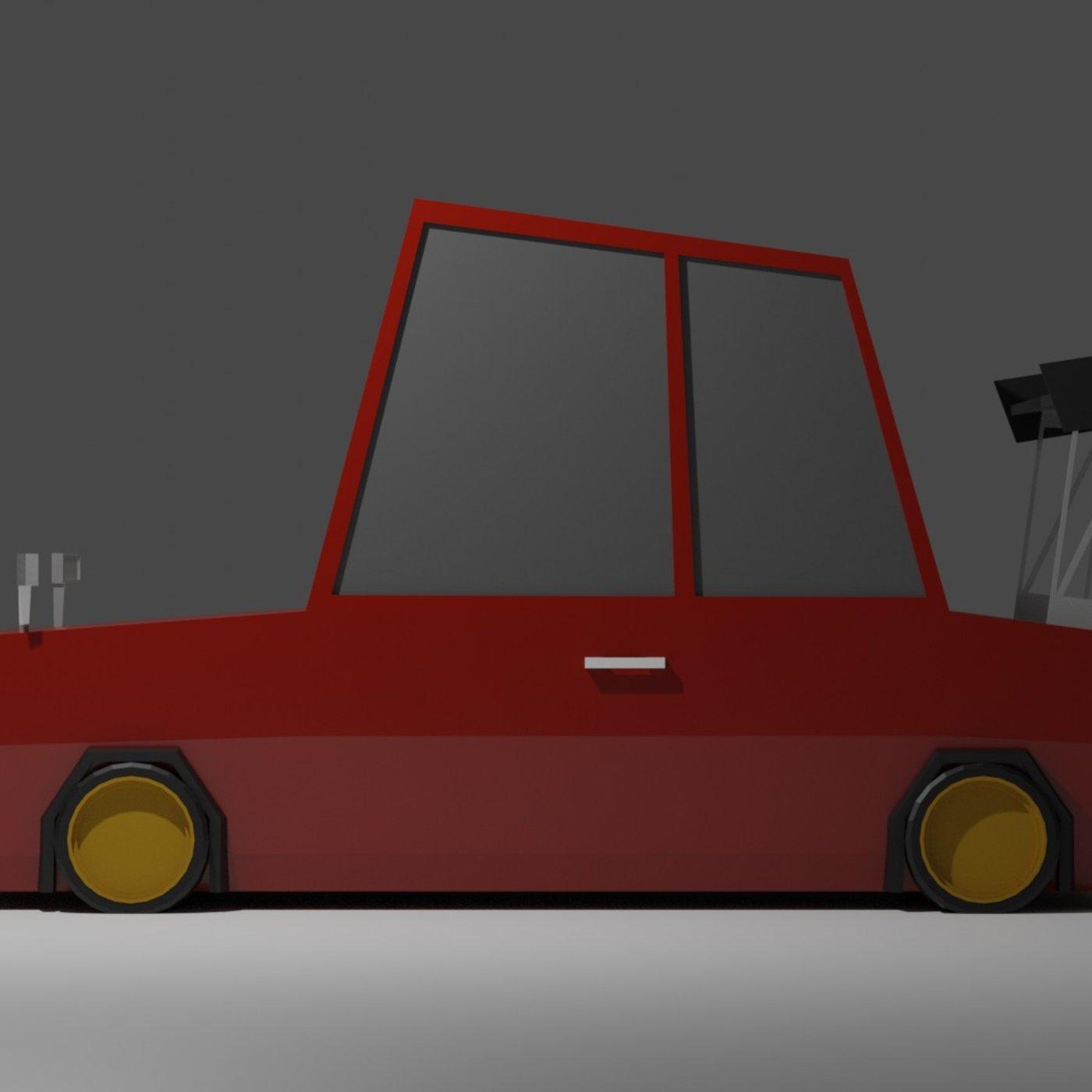 Low Poly JDM Car