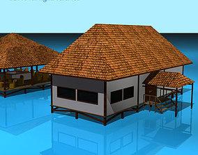 Resort buildings 3D