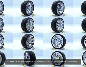 ORTAS CAR RIM 11-12-13-14-15-16-17-18-19-20 GAME READY 3D